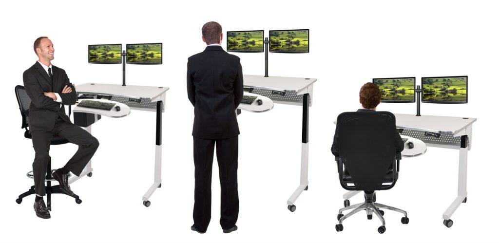 Nên linh hoạt giữa ngồi và đứng theo tỉ lệ 50:50 để bảo vệ sức khỏe