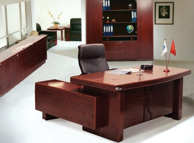Mẫu bàn giám đốc Hòa Phát gỗ tự nhiên
