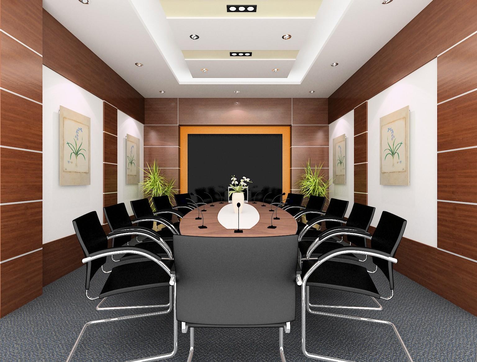 Bàn họp hình Oval kết hợp ghế chân quỳ cho văn phòng hiện đại