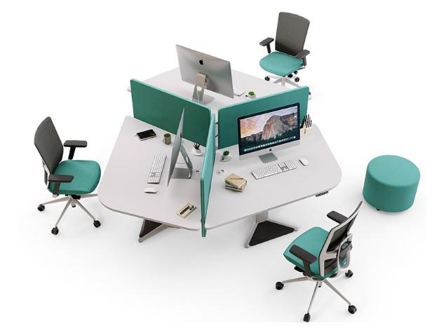 Mẫu module bàn làm việc dành cho 3 người