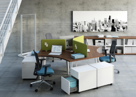 Văn phòng chuyên nghiệp hơn nhờ sử dụng module bàn làm việc