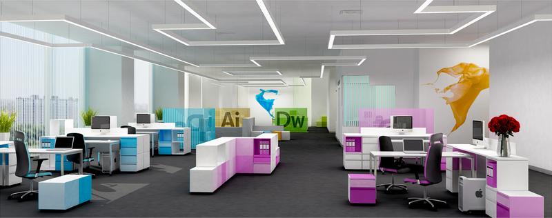Văn phòng đa sáng màu khơi nguồn cảm hứng sáng tạo