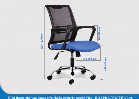 Kích thước ghế văn phòng tiêu chuẩn dành cho người Việt
