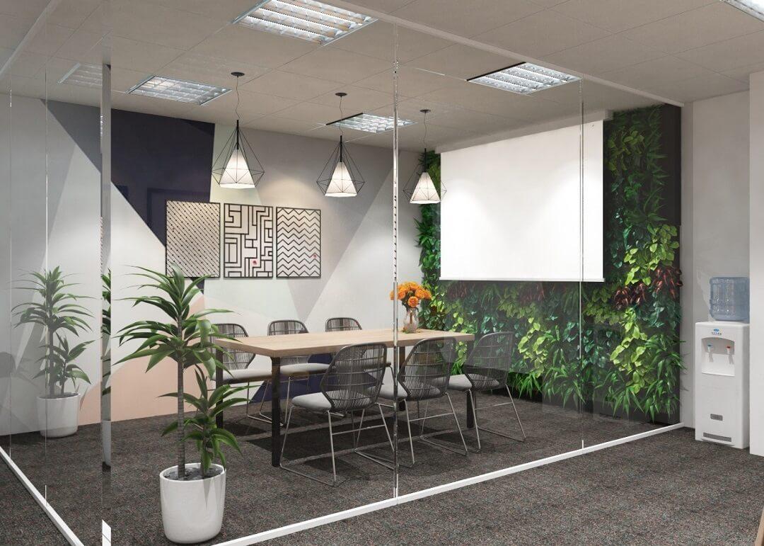 Mang thiên nhiên vào trang trí phòng họp nhỏ