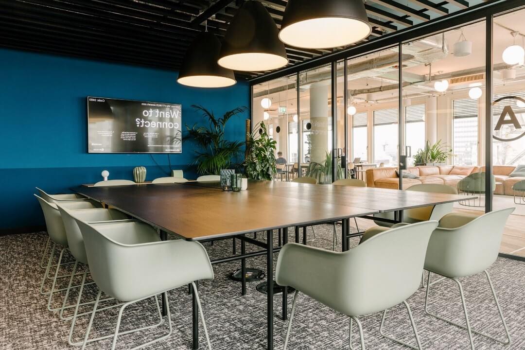 Nghệ thuật phối màu ấn tượng cho phòng họp