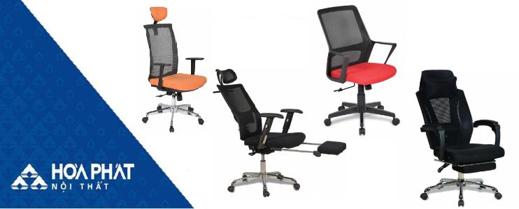 Ghế văn phòng hiện đại đến từ thương hiệu Hòa Phát