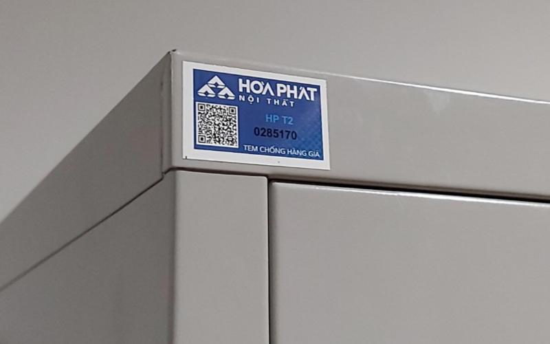 Tủ tài liệu Hoà Phát với tem chống hàng giả