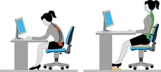 Ngoài một chiếc ghế có kích thước chuẩn, bạn cần biết tư thế ngồi làm việc đúng