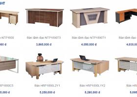 5 mẫu bàn gỗ Hoà Phát giá rẻ phù hợp cho văn phòng khởi nghiệp